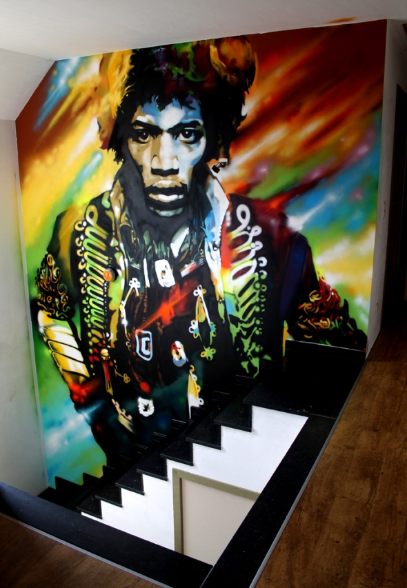 Jimi Hendrix by Lozic and NovaDead